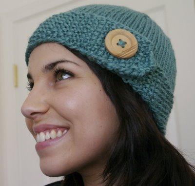 Button Knit Hat Pattern