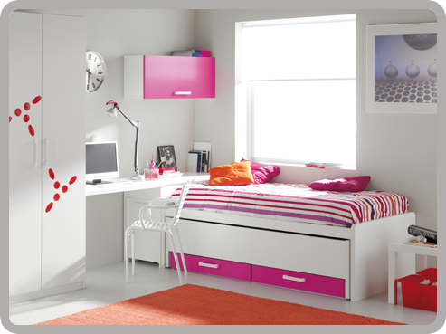 Dormitorios en fucsia - Dormitorios juveniles blancos ...