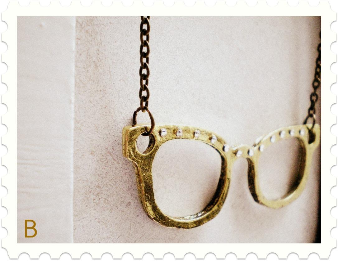 Collar Gafas con Cristales swarovski