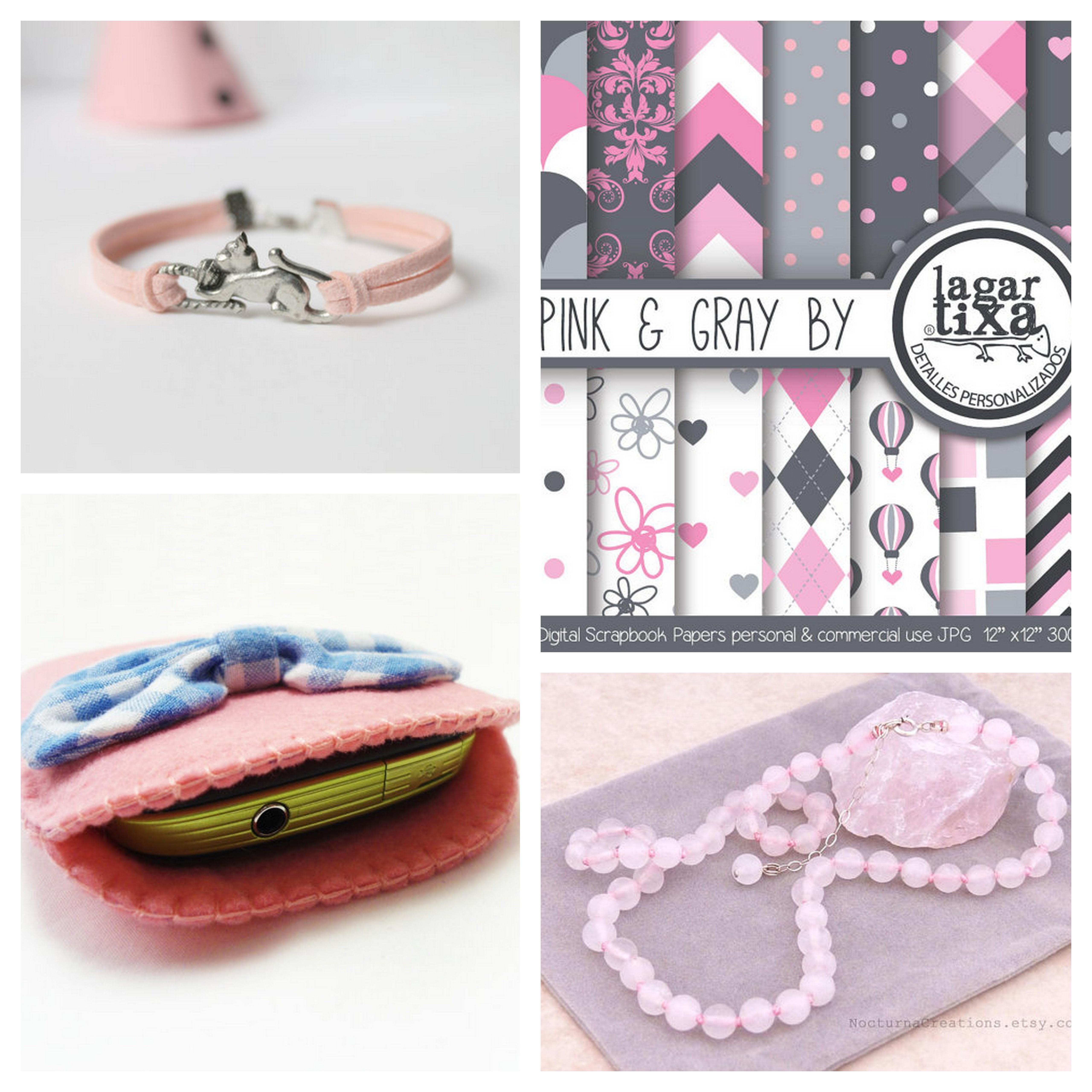hola chics hoy me ha dado por el rosa y como es un color del blog pues nada traigo cuatro cositas una pulsera sencillita pero bonita