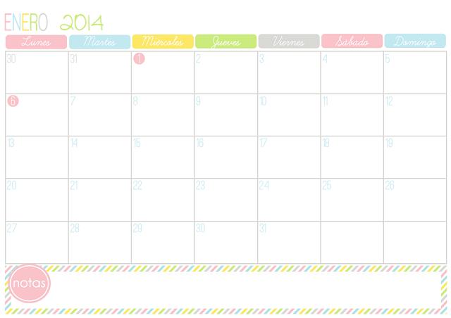 Hojas De Calendario Para Imprimir