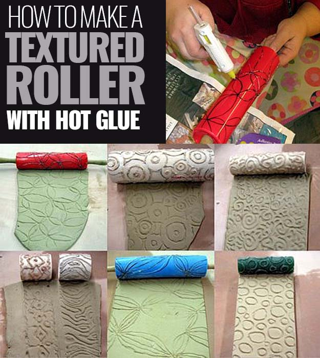 Make-a-textured-roller-with-Glue-Gun